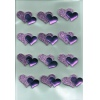 Purple and Pink Glitter Hearts